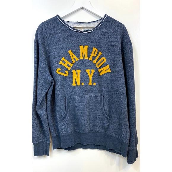 Champion Other - Vintage Oversized Heathered Champion NY Sweatshirt